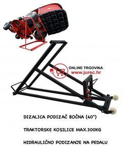 Slika od DIZALICA PODIZAČ BOČNA (40°) TRAKTORSKE KOSILICE MAX.300KG HIDRAULIČNO PODIZANJE NA PEDALU